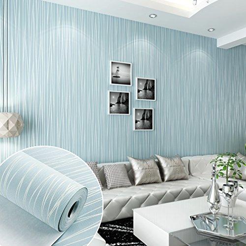KINLO® Mustertapete 10x0.53m(5.3m) Tapete Wand Tapete Vlies 3d Tapete Blau  Barock Für Wohnzimmer TOP Qualität Wandaufkleber Für Schlafzimmer  Möbelfolie ...