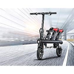 HD Triciclo Eléctrico Plegable ,Negro