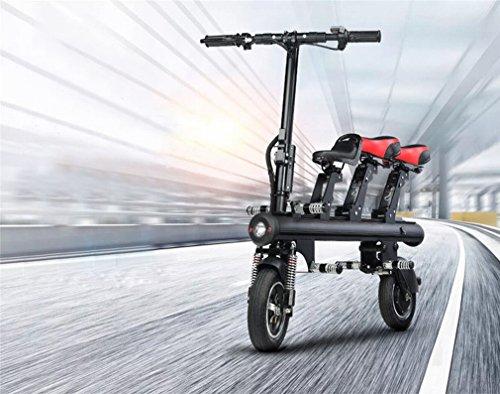 MKKM Triciclo Eléctrico Niño Triciclo Adulto Coche Eléctrico Plegable Scooter Portátil,Negro