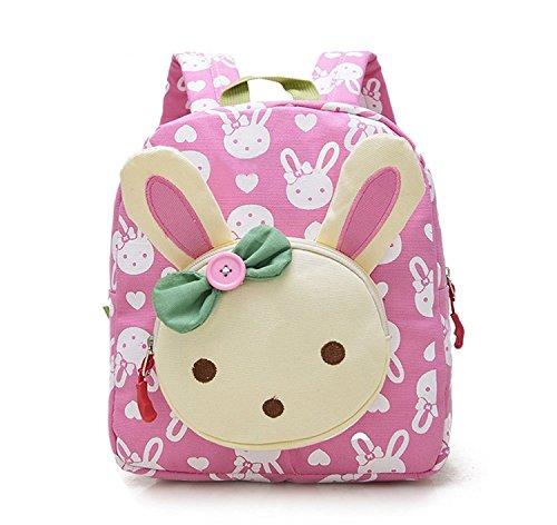 Kinderrucksack Kaninchen, Kindergarten/Vorschule, Mädchen/Jungen im Alter von 1-3 Jahren rose