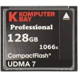 Carte Komputerbay 128 Go Compact Flash Professional 1066X FC écrire 155 Mo / s en lecture 160 Mo / s Extreme Speed ​​UDMA 7 RAW