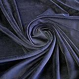 Stoff Baumwolle Polyester Nicki dunkelblau Nicky weich
