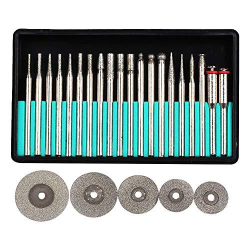 ZFE Diamant-Fraser-Set Diamant-Schleifer Schleifstift Bohrer Satz Fur Dremel, Proxxon Multifunktionswerkzeuge--3mm Schaft