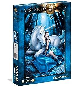 Clementoni 39462Luna Azul-Anne Stokes Collection Puzzle, 1000Piezas