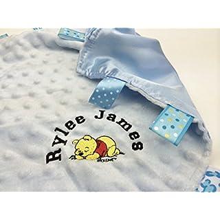 Personalisierte Baby Kuscheldecke Schmusetuch/mit Winnie the Pooh Tolles Geschenk.