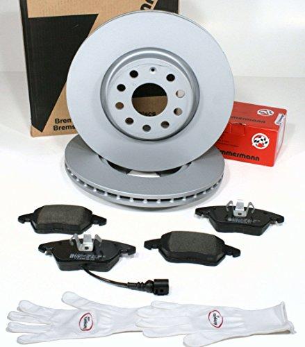 Preisvergleich Produktbild Autoparts-Online Set 60011040 Zimmermann Bremsscheiben Ø 288 mm PR-Nr. 1LE / Bremsen Coat Z + Bremsbeläge + Warnkabel für vorne / für die Vorderachse