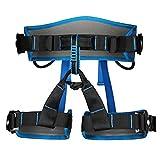 MagiDeal Cintura Di Discesa In Corda Doppia Sicurezza Esterna Albero Di Arrampicata Su Roccia Sedersi Imbracatura - Blu