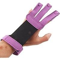 meyfdsyf 3dedos guante de tiro con arco Caza guantes de pantalla para deportes (color morado)