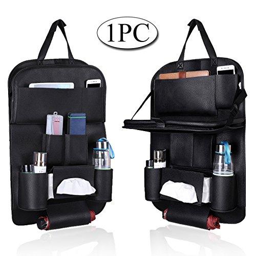 Preisvergleich Produktbild mvpower® Auto Rücksitz Organizer Wasserdicht Seat, Faltbare Auto Rückenlehnenschutz Esstisch mit Mehrzwecktaschen Aufbewahrung, iPad Halter, Flaschen, Tissue Box, Spielzeug, 1Stück