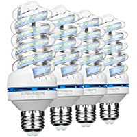 Bro.Light Bombillas LED E27, no regulable, 12 W (equivalente a 120watt), 6000 K (luz blanca) bombillas de luz de inundación, 360 Degree Ángulo de haz, 980 lumen LED bombillas, 4-pack
