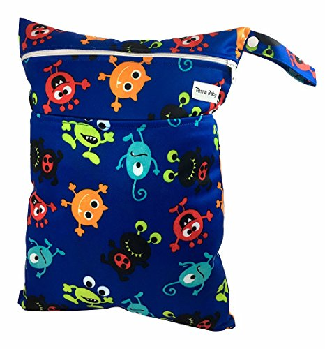 baby-wet-and-dry-bag-for-nappies-and-burp-cloths-reusable-and-waterproof-blue-monster-madness
