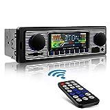 Aigoss Autoradio Bluetooth Vivavoce Stereo Auto Audio Ricevitore MP3 Microfono Integrato Potenza 4x60W FM Radio Supporto AUX e USB, SD e Telecomando