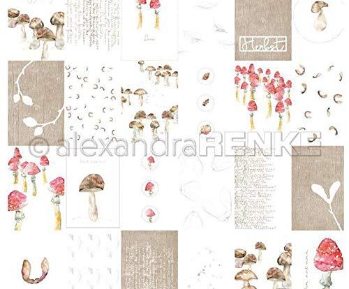 One-sided Scrapbook-Papier (1ks) - Karten-Blatt Pilze International, 30 30 Natur -, Papier -, Druck -, Scrapbooking -