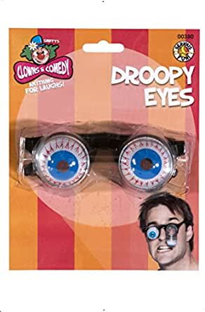 Smiffys Droopy Eye Specs with Metal Spring