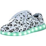 Dayiss 7 Farbe USB Aufladen LED Leuchtend Sportschuhe Sneaker Turnschuhe Schnürschuh für Unisex-Erwachsene Herren Damen