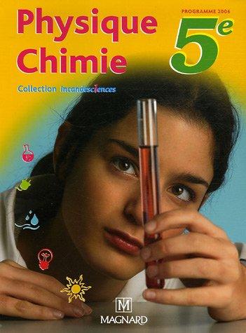 Physique Chimie 5e : Manuel élève