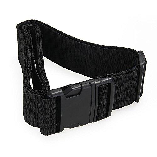 Cintura Sicurezza Regolabile con Fibbia per Bagaglio Valigia Nero