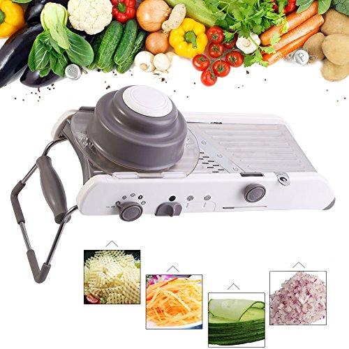 Mandoline Cutter (Yosoo Multifunktions Gemüse Schneidemaschine Titan-Legierung Verstellbare Obst Peeler Professionelle Küche Food Cutter Tool)