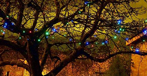 Guirlande solaire multicolore 100 LEDs 11,8m