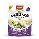 Harvest Snaps - Baked Pea Snacks - Black Pepper & Rosemary (12 bags of 85 grams)