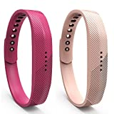 Cyeeson 2PC Fitbit Flex 2 socken Weiche Silikon Adustable socken Strap Replacement Watch Band für Fitbit Flex 2 (Klein)