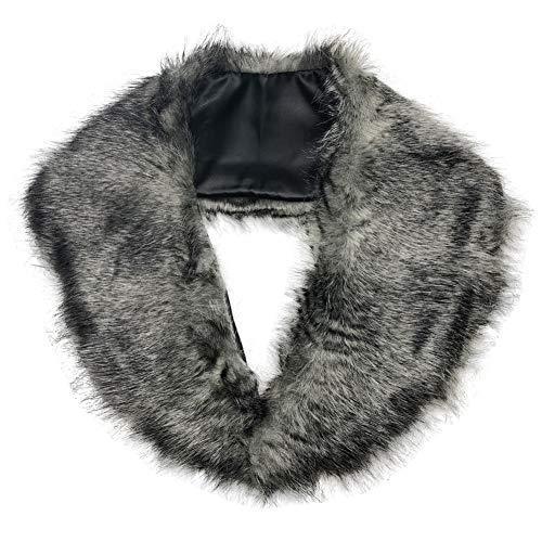 SwirlColor Fluffy Faux-Pelz Shrug warme Winter-Collar-Verpackungs-Schal-Ansatz-Schal für Frauen - ()