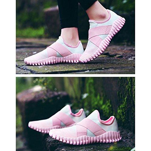 Oriskey Unisex-Erwachsene Damen Herren Laufschuhe Sportschuhe Fitness Sneakers Sport Turnschuhe Pink
