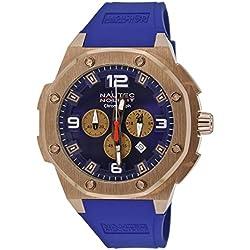 Nautec No Limit Sailfish SF QZ/RBRGRGBL - Reloj para hombres, correa de goma color azul