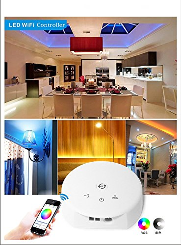 XCSOURCE® Magic UFO WiFi LED Controller DC 12 - 24 V, LD382, White, 8 x 8 x 3 cm, 26-011-945