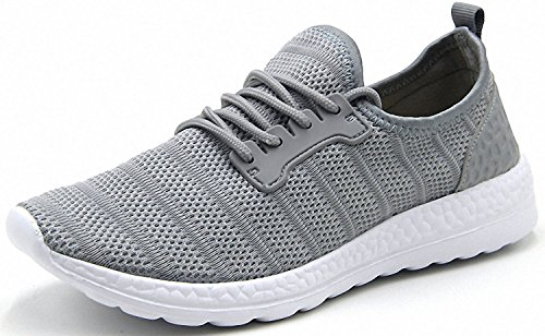 Womens Outdoor Sports Running Shoes Fashion Mesh Sneakers Gray 36-47