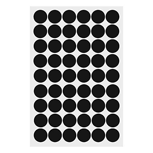 HuntGold ?Abnehmbar Charm 4 cm Polka Punkte Rund Kreis Kunst Wandbild Wandtattoo Fenster Aufkleber Schwarz