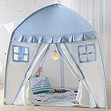 LIAN bambini giocano Tenda Baby Game Casa delle bambole coperta all'aperto tela Fold Lace House (rosa, blu 150 * 150 * 100cm Confezione da 1) (Colore : Blu)