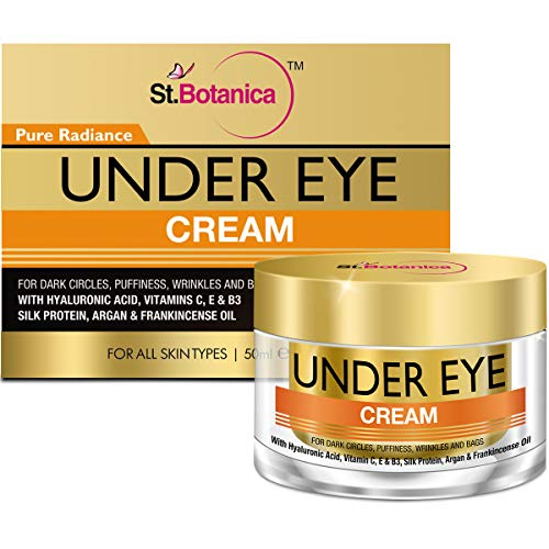 StBotanica Pure Radiance Under Eye Cream - For Dark Circles, Puffiness, Wrinkles and Bags - 50g