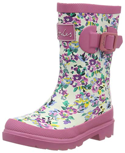 Tom Joule Joules Mädchen Girls Welly Gummistiefel, Weiß (White Ditsy Whiteditsy), 25 EU Joules Welly