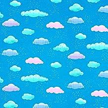 Nursery Rhyme tejidos–nubes azul–bla57–por 0,5Metre–por en Textiles–100y algodón (nubes azul bla57)