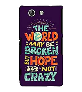 Fuson Designer Back Case Cover for Sony Xperia Z3 Compact :: Sony Xperia Z3 Mini (The world may be )