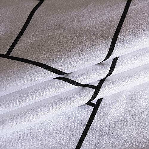 Fansu Housse de Couettes Parure de Lit 4 Pièces, Microfibre Modèle de Élégant Ensemble de Literie avec 2 Taies d'oreillers et 1 Drap de lit ... 9