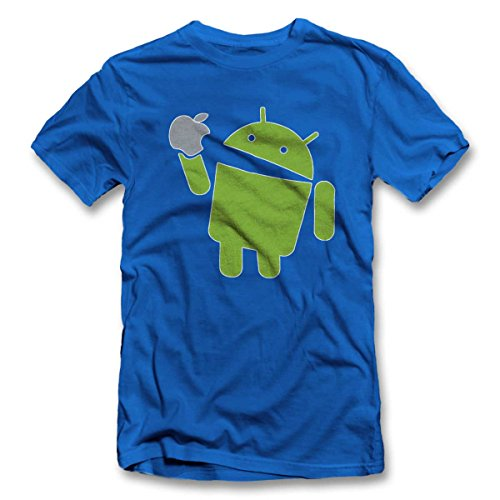 Android T-Shirt royal-Blue 2XL (T-shirt Android)