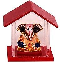 purpledip religiosa indù Dio Ganesha miniatura per casa statua, Tempio, Negozio Contatore/Mensola, o ufficio tavolo (10142)