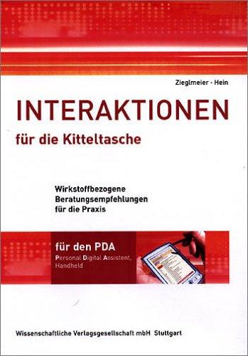 Interaktionen für die Kitteltasche, 1 CD-ROM Wirkstoffbezogene Beratungsempfehlungen für die Praxis. Für den PDA, Personal Digital Assistent, Handheld. Für Palm OS und Pocket PC