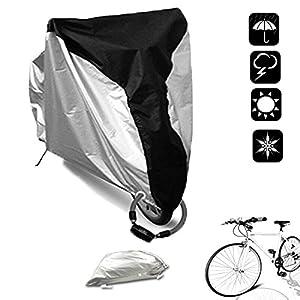 5109M2zXlqL. SS300 WisFox Copri Bicicletta 190T Telo Copribici Copertura per Bicicletta impermeabile anti polvere sole pioggia vento…
