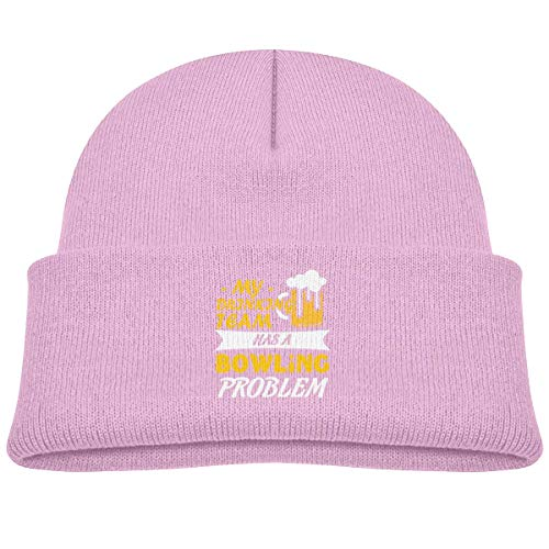 My Drinking Team Has A Bowling Problem Beanie Cap Knit Hats Baby Girls Butterfly Beanie Baby
