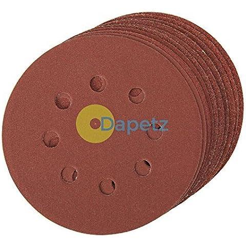 Daptez Punzonato Disco Abrasivo 125mm 10pk Ghiaioso 40 Aggancio Facile Ossido Di Alluminio