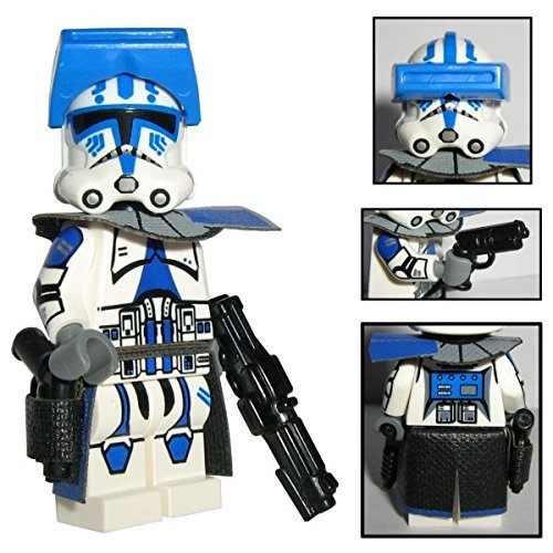 (Custom Brick Design CBD 501st Legion Clone Trooper Offizier Captain Torros Figur gefertigt aus Lego Star Wars & Custom Teilen)