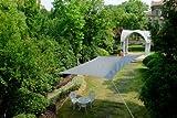 Cool Area Tenda a vela rettangolare 2.5 x 4 metri protezione raggi UV, resistente e traspirante (vari colori e misure), Color grafite immagine