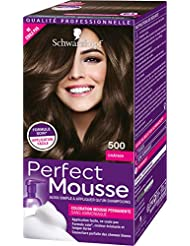 Schwarzkopf Perfect Mousse - Coloration Mousse Permanente sans Ammoniaque - Châtain 500