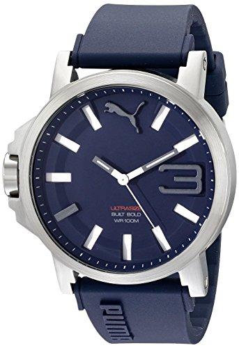 PUMA time hombre-reloj PU-ULTRASIZE 50 S Colour azul marino analógico de cuarzo silicona PU103911003