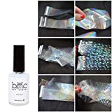 BMC 6Blatt Folie Klar Holografische Nail Art Streifen mit Anwendung