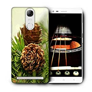 Snoogg Wooden Flower Printed Protective Phone Back Case Cover For Lenovo K5 Note