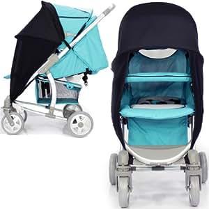 Baby Travel - Nouveau Poussette Sunny Poussette Buggy Canopy Voile Solaire Pour Monter La Croix d'argent